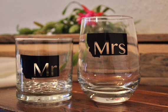 Mr and Mrs Drinkware set