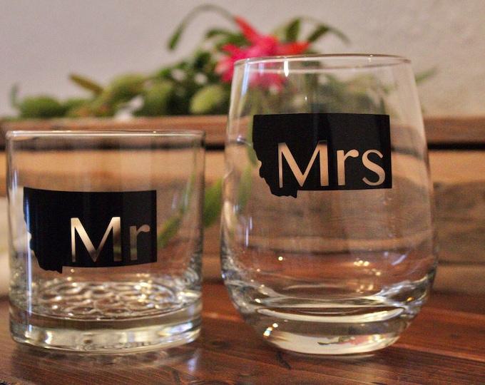 Mr and Mrs Drinkware set