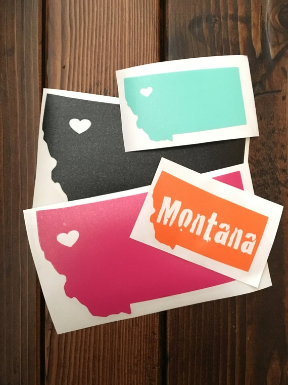 Montana Heart Decal *customizable*