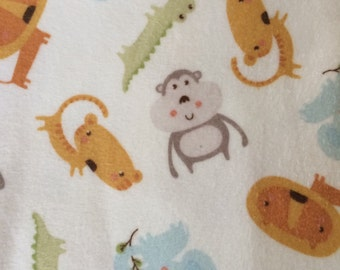 Jungle animals Fitted crib sheet/Flannel Bedding/Jungle Nursery Bedding/Jungle Nursery Crib Sheets/Baby Crib Sheets/Animal Fitted Crib Sheet