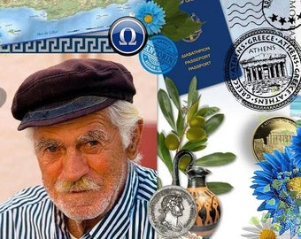 Digital Scrapbooking Kit: GREECE  67 embellishments and 19 Papers , urns, statues, coins,