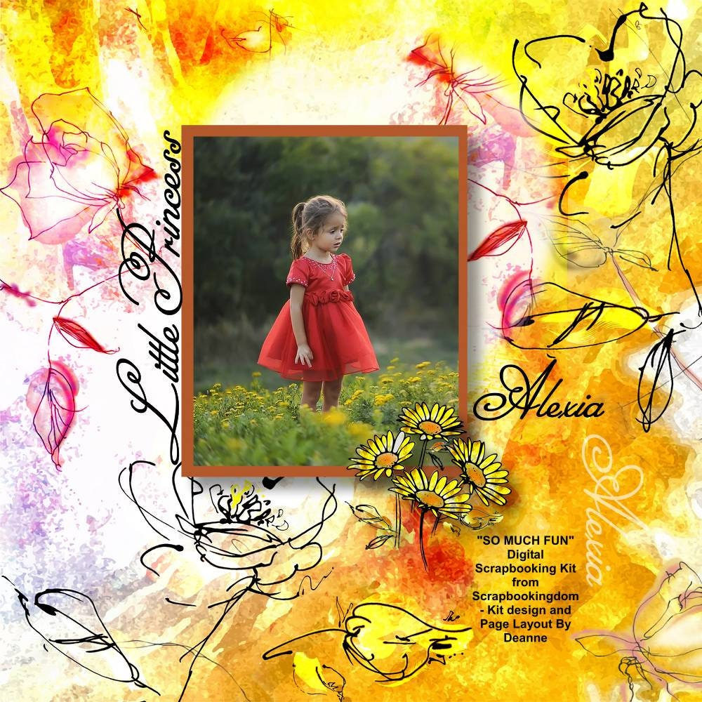 Casual funky Digital Scrapbook kit  So Much Fun  bright colors black highlights 16 papers /& 47 embellishments