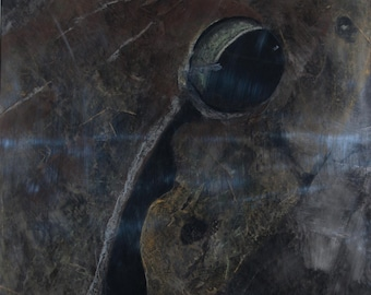 Frog pastel (chalk) painting.
