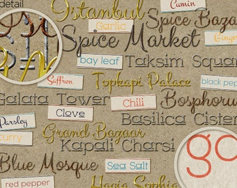 Digital Word Art: Spice Market Collection