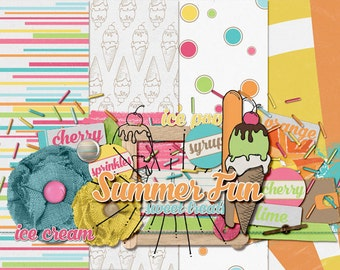 Digital Scrapbook Sampler: Summer Fun