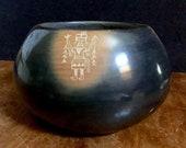 Large Grace Medicine Flower and Camilio Tafoya Santa Clara Pottery Sgraffito Bowl 6.5 D x 3.75 H Free Shipping