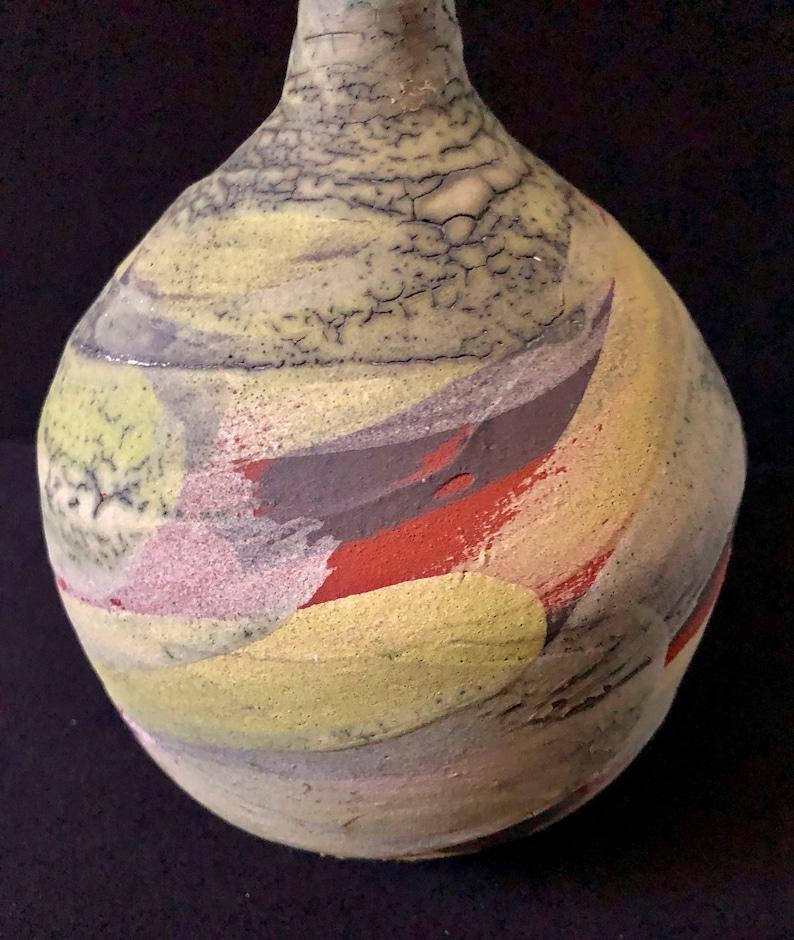 Nicholas Bernard Studio Art Pottery Earthenware Vase 10 Free Shipping
