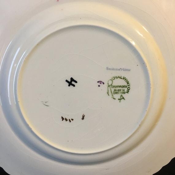 Very rare very old beatiful 2 Royal Winton Plates Grimwades England