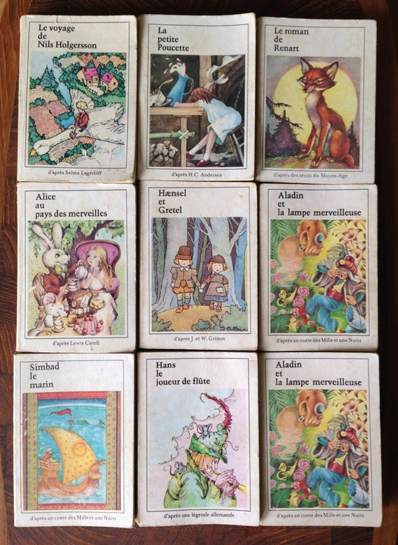 9 Miniature French Children S Books Editions Riquier 1970s Etsy