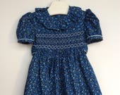 Girls hand smocked dress....