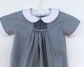 Baby boy smocked summer r...