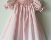 Baby girls smocked gown a...