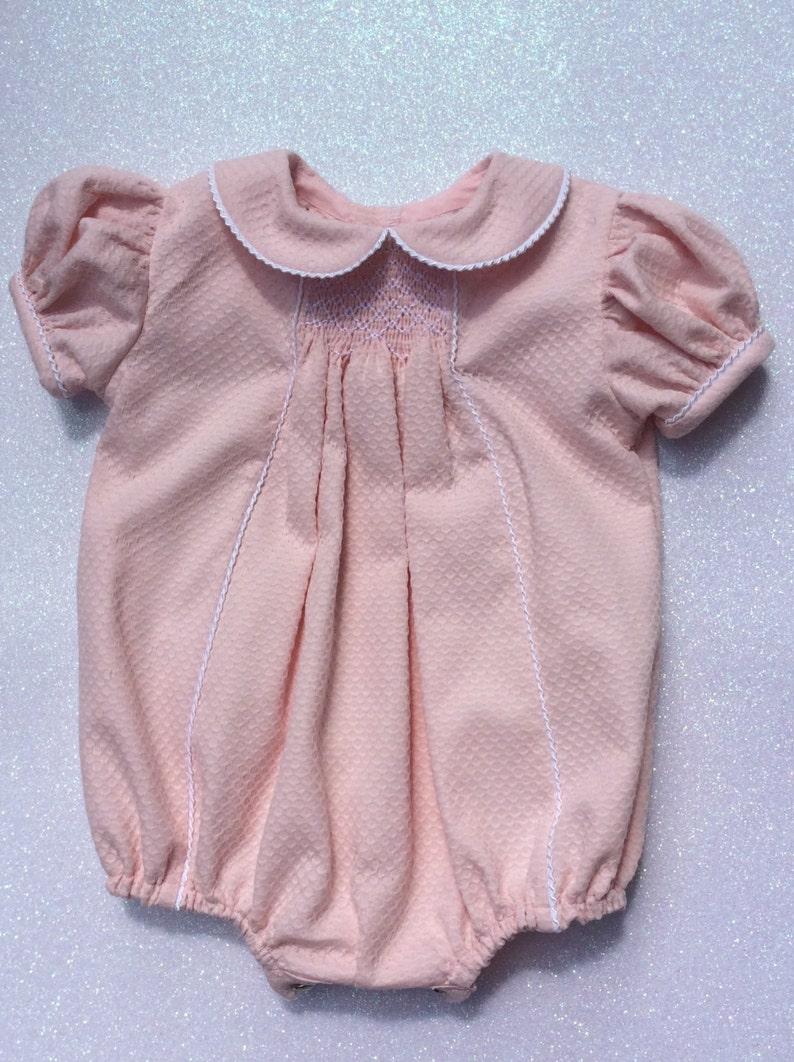 Smocked Baby Girl romper image 0
