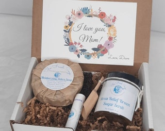 Self Care Gift Set For Mom, gift for mom, Soap gift set, self care package, gift basket, i Love you, Note Cards, Gift baskets for Women