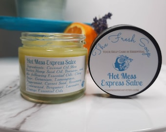 Hot Mess Express Salve great for combating PMS and Menopause symptoms such as Anxiety, Depression, Irritability and Hot Flashes