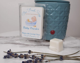 Wax Melt Scented Cubes Baby Powder Made with All Natural Coconut Wax, great fragrance and long lasting