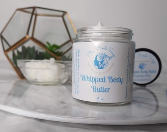 Body Butter made with Coconut oil, Cocoa Butter and Hemp Seed Oil, Unscented and Fragrance Free