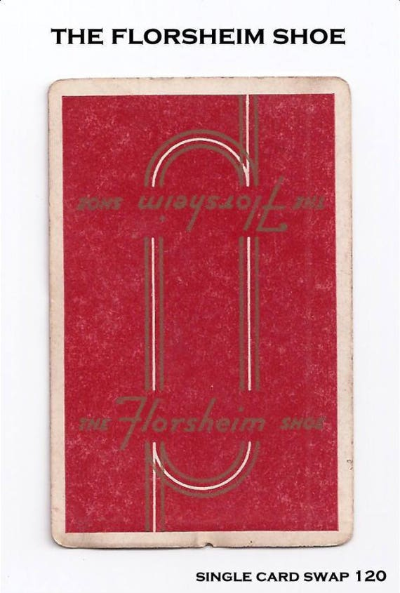 Swap Trading Card 1930s 1940s The Florsheim Shoe Company Advertising Playing Side Is Blank