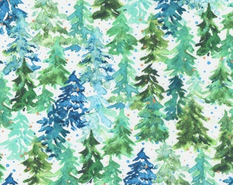 Starflower Christmas White Fabric by Create Joy Project for Moda