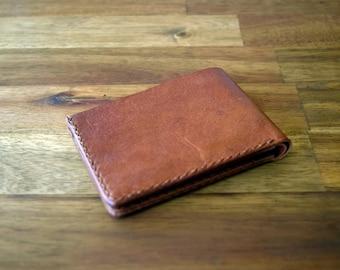 A Slim Design Kangaroo Leather Wallet - In Cognac. Mens Gift. Birthday Gift. Groomsman Gift. Graduation Gift. Christmas Gift