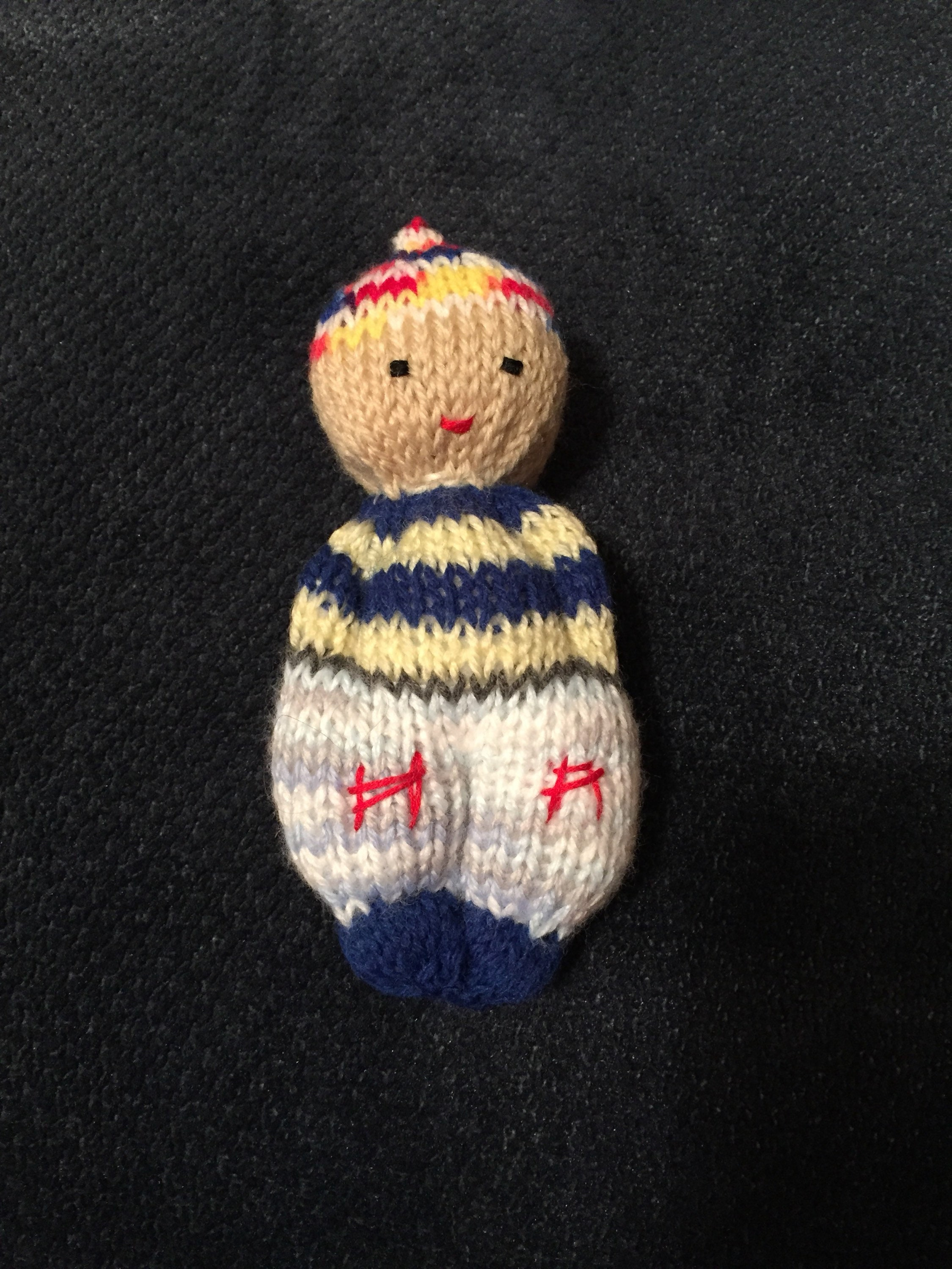 Knitted Doll For Charity Or Donation Knitted Comfort Doll Etsy