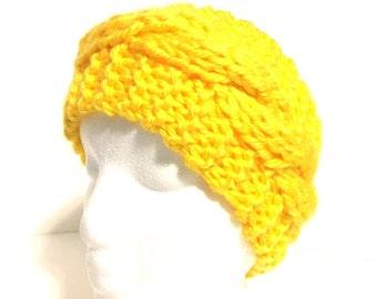 Knit ear warmer, knit headband, winter headband, knit earwarmer, winter headwear, ladies headwrap, soft head wrap, chunky ear warmer