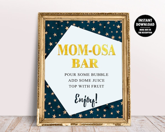 Mom Osa Bar Sign Twinkle Twinkle Little Star Baby Shower Etsy