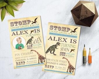 Dinosaur Invitation, Dinosaur Birthday Invitation, Dinosaur Birthday Party, Boy Dinosaur Invite, Dino Birthday Invitation, Dino Invite