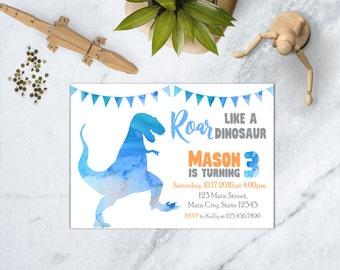 Dinosaur Birthday Invitation, Dinosaur Invitation, Boy Dinosaur Invite, Dinosaur Birthday Party, Dino Birthday Invitation, Dino Invite