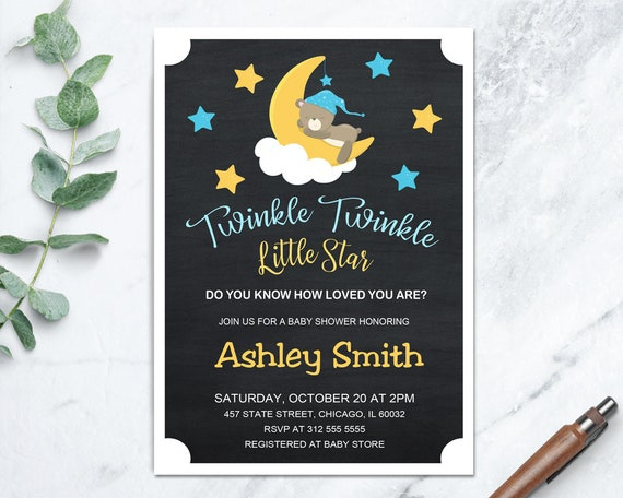Twinkle twinkle little star baby shower invitations twinkle etsy image 0 filmwisefo