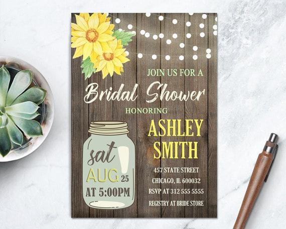 700d828601e Rustic Mason Jar Bridal Shower Invite