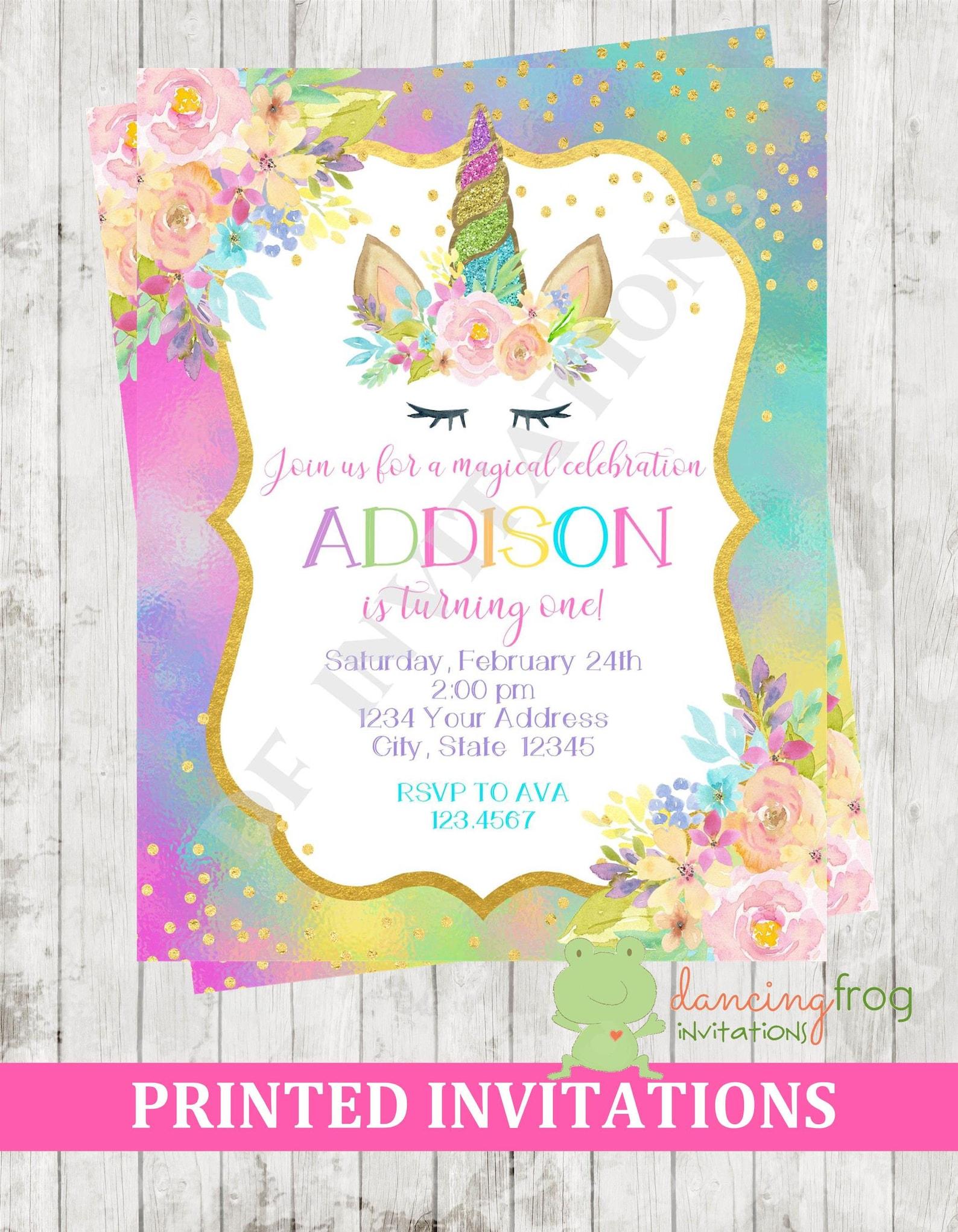 Unicorn Invitations Page Four