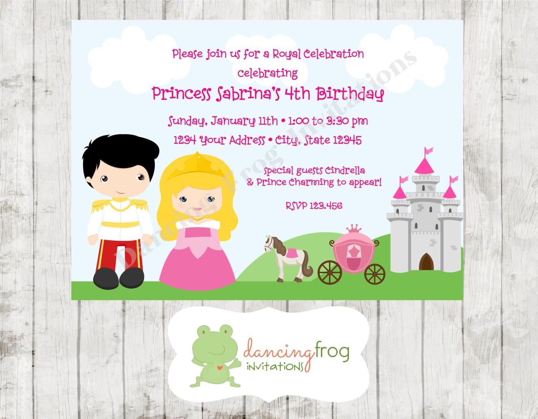Princess And Prince Birthday Invitation Printed Birthday Etsy