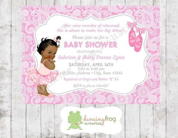 Vintage Antique African American Ballerina Baby Shower