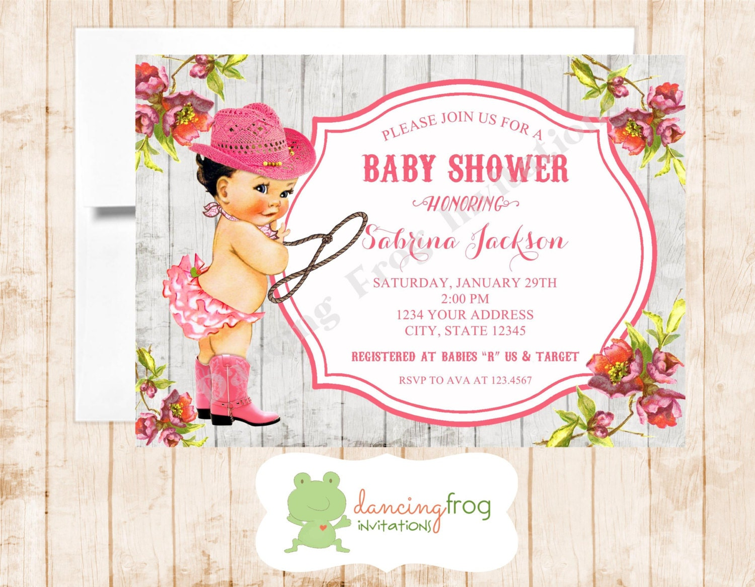 Vintage antique cowgirl baby shower invitation printed etsy vintage antique cowgirl baby shower invitation printed vintage baby shower invitation by dancing frog invita filmwisefo