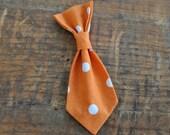 Dog Tie. Retro Orange Pol...