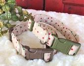 Christmas Dog collar. Custom pet gift. Cotton dog collar.