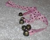 Valentine's Day Sale!! Pink/Brown Polka Dot Dog Training Bells