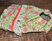 Dog diaper. In season diaper. Dog panty. Green Vintage Floral Dog Diaper. Small