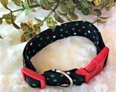 Custom Christmas Dog Collars.