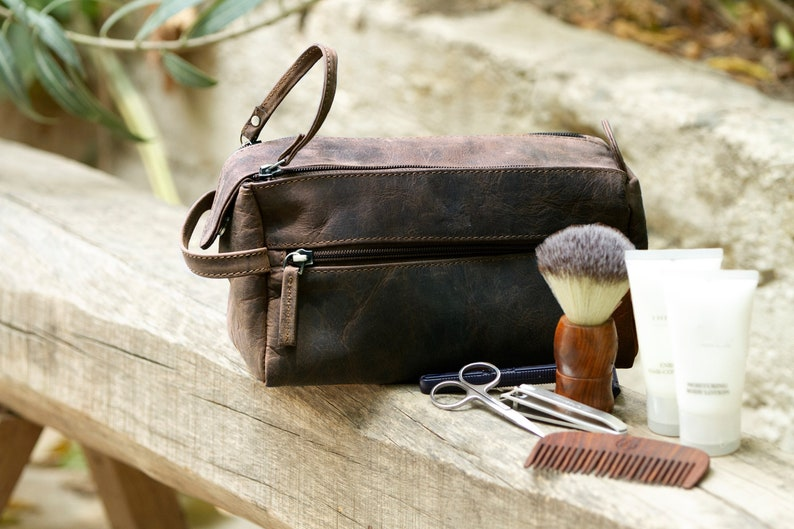 Dop kit shaving bags for men leather travel toiletries  10fc29d70fe4b