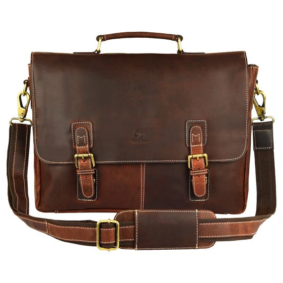 1a665c381 New Year's Sale Messenger Bag 16 inch Handmade Leather   Etsy