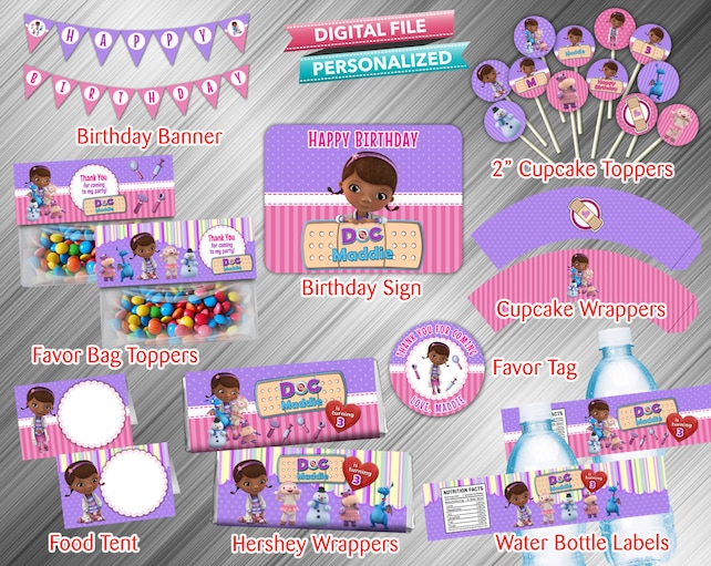 Doc Mcstuffin Printable Party Package