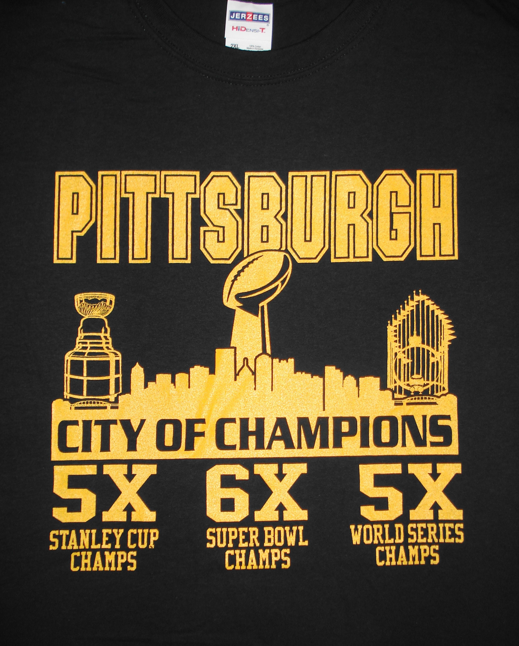 Pittsburgh Steelers Pirates Penguins T-shirt Size Adult S-6XL