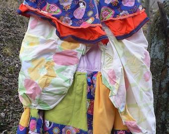 """hippie """"matrioshka"""" skirt in cotton patchwork"""