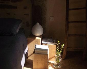 Bedside Sofa End Tabouret 25x25x40 cm