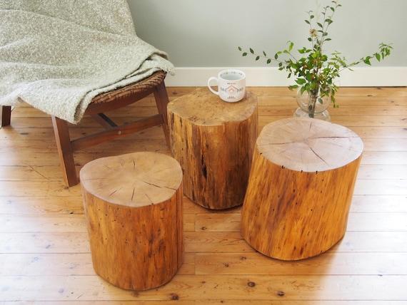 Table Basse Rondin De Bois.Table Basse Bois Table Rondins Table Fait Main Buches Accessoires Decoration