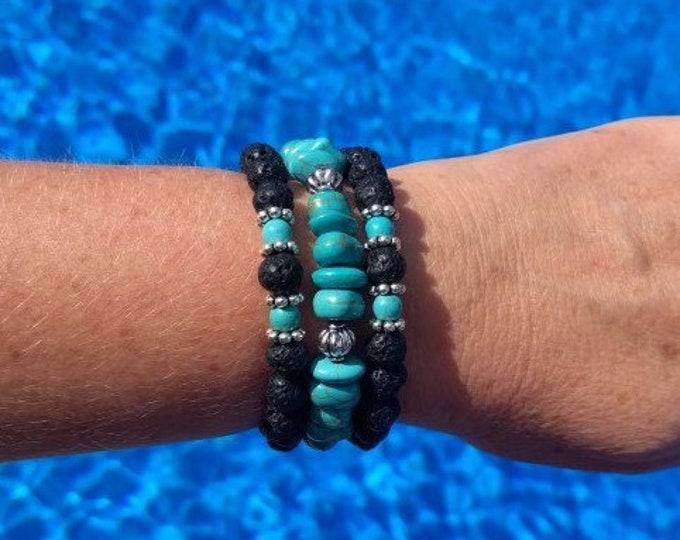 Turquoise Lava Diffuser Bracelet