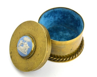 Trench Art Vintage Trinket Box Caddy Artillery Shell Case Military Collectible Brass Trinket Box