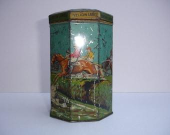 Vintage Grand National Lyons Tea Tin Vintage Tea Tin Grand National Tin Vintage Game Spinning Top on Lid The Grand National Drink